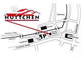 Lageplan Hüttchen Friedberg - Restaurant mit Raum für Hochzeitsfeiern, Geburtstagsfesten und anderen Familienfeiern.